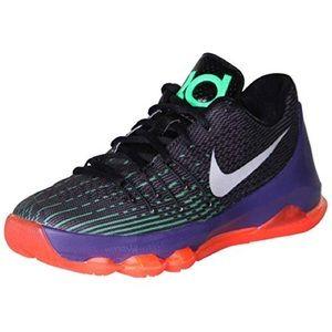 KD 8 Basketball Black/Green Shock/Hyper Orange-7